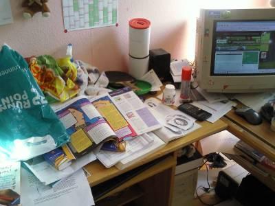 Das Chaos auf meinen Schreibtisch