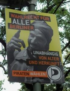 Wahlwerbung der Piraten-Partei in Berlin