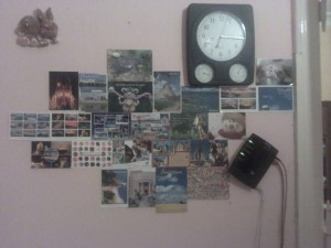 Postkarten Wand