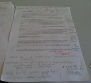 Artikel mit Notizen
