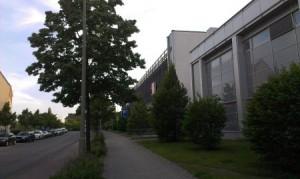 Gebäude einer Kaufhalle