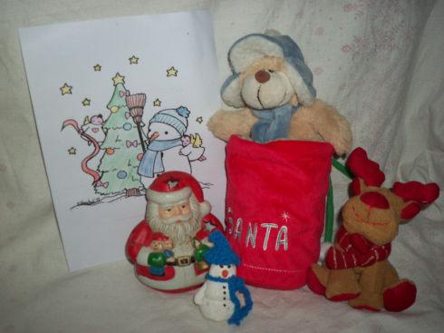 Teddy im Weihnachtssack