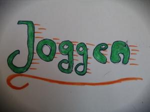 """Bild mit der Aufschrift """"Joggen"""""""